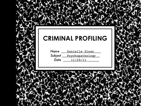 If I Change My Name Will My Criminal Record Follow Me Criminal Profiling