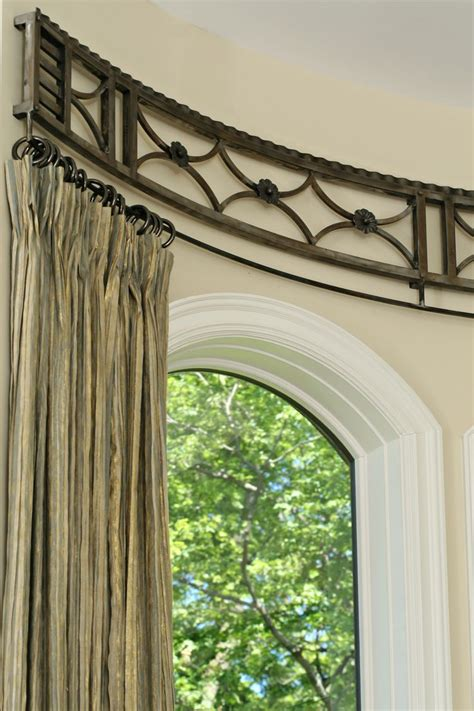 curved drapery rods for windows curved curtain rod window detail unique window
