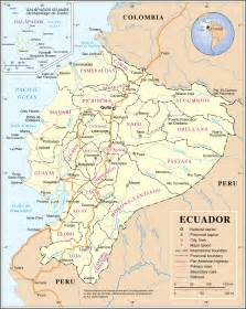driving map of large detailed road and administrative map of ecuador