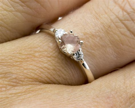 A0007 Yellow Sphene Ring In Sterling Silver clear pink sunstone in sterling silver ring