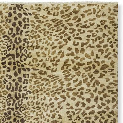 leopard rugs pottery barn knotted leopard rug swatch williams sonoma