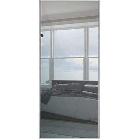 Single Mirror Closet Door Wickes Sliding Wardrobe Door Silver Framed Mirror Single Panel 2220 X 914mm Wickes Co Uk