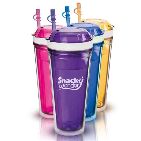 Purple Bathroom Ideas snacky wonder 2 in 1 snack and drink cup