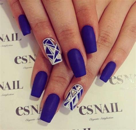 nail matt blue matt nails we it nails blue and nail
