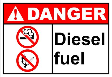 printable osha stickers diesel fuel danger osha ansi label decal sticker ebay