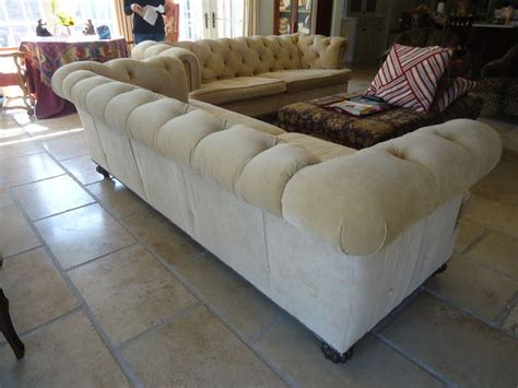 Pair Of Large Sumptuous Custom Corduroy Chesterfield Sofas Custom Chesterfield Sofa