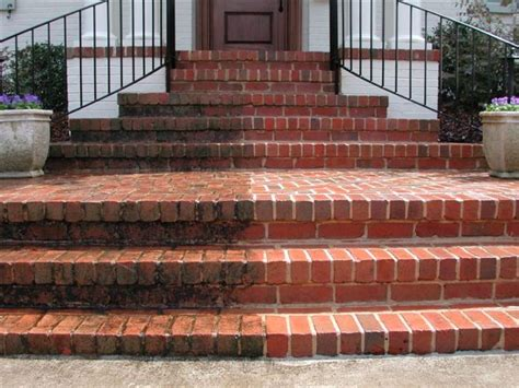 Brick Patio Sealer Surface Cleaning Brick Step Cleaning