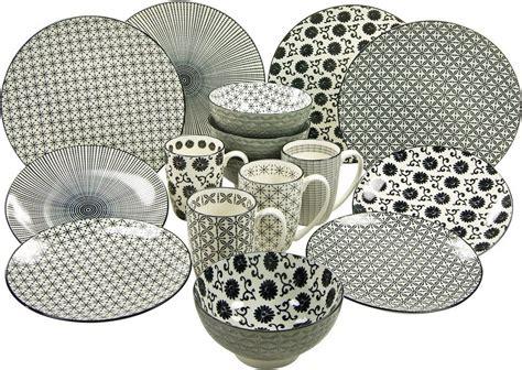 Schwarzes Geschirr Set by Creatable Kombiservice Steinzeug 16 Teilig 187 New Style