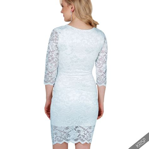 Sleeve Lace Maternity Dress maternity lace 3 4 sleeve stretch bodycon pregnancy midi