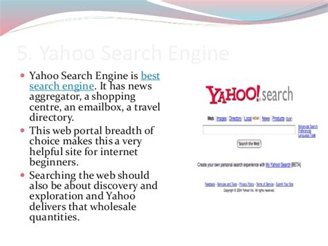 5 Best Search Engines Top 5 Best Search Engines