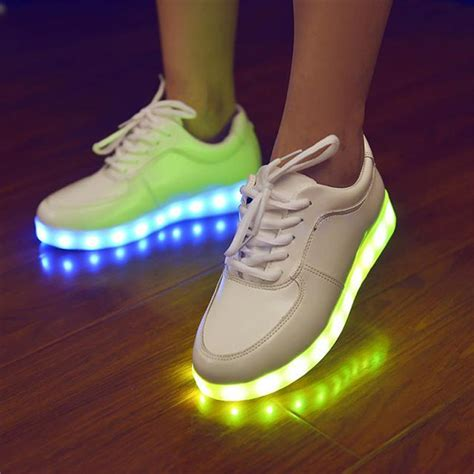 sneakers with light up soles colorful glowing with lights up led luminous shoes