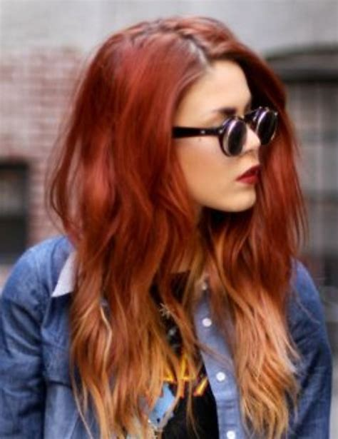 red ombre hair short red ombre hairstyles images