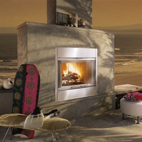 majestic al fresco wood burning outdoor fireplace insert