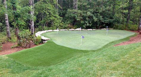 backyard putting green turf home intelliturf of oklahoma