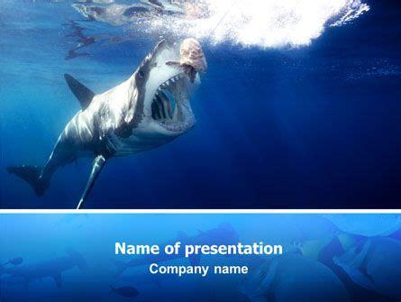 Http Www Pptstar Com Powerpoint Template Shark Hanting Shark Hanting Presentation Template Shark Powerpoint Template