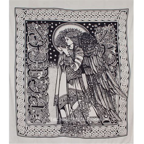 Vintage Valances Black And White Alice In Wonderland Tapestry Fairy