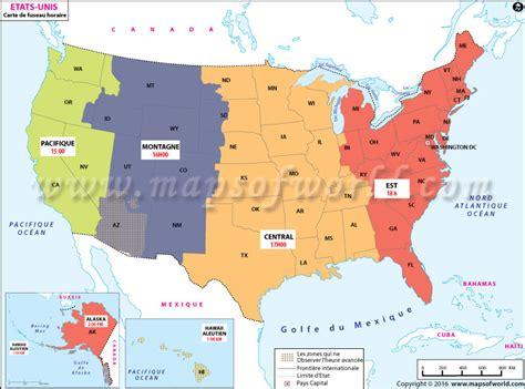 usa time zone map california usa carte de fuseau horaire heure exacte usa