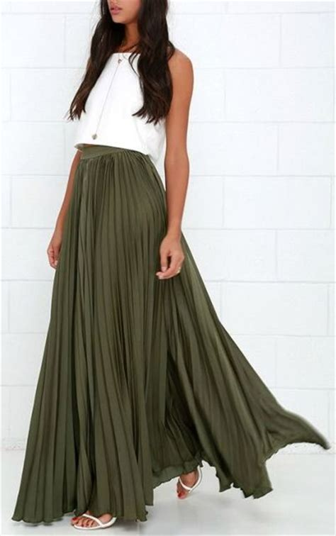 Dress Flow 205 Mini Dress Rok Dress Maxi 22 Trendy Olive Green Skirt Styleoholic