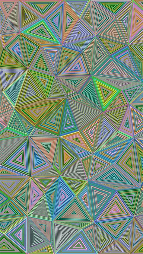 polygon triangle illusion hd wallpaper