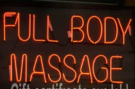 policing massage parlors  relaxed rules