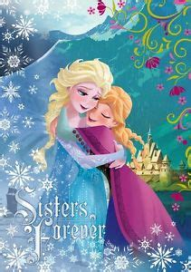frozen wallpaper on ebay blue wall mural wallpaper 254x184cm elsa anna disney