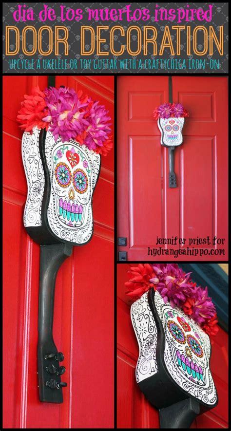 How To Decorate For Dia De Los Muertos by Upcycled Ukelele A Diy Dia De Los Muertos Skull
