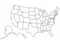 Us Map Without State Names