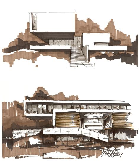Sketches Renderings And Models Are Primarily by Archisketchbook Architecture Sketchbook A Pool Of