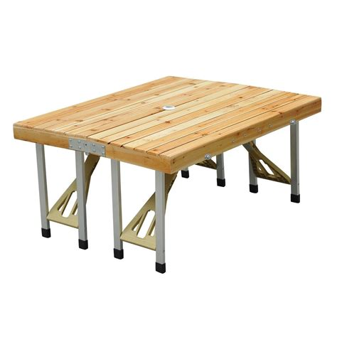 wooden outdoor table with bench seats wooden cing picnic table bench seat outdoor portable