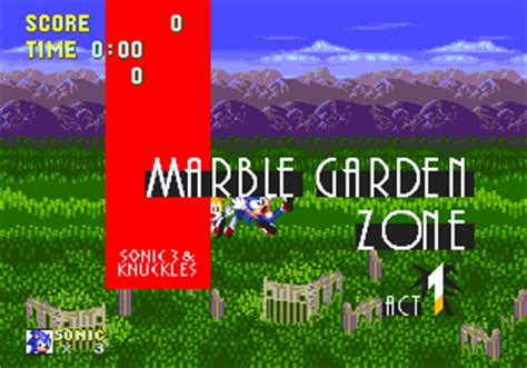 marble garden zone zone 0 gt sonic 3 gt marble garden zone