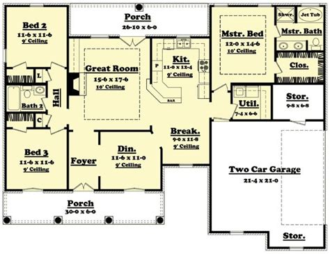 1600 square feet flexible house plan with options