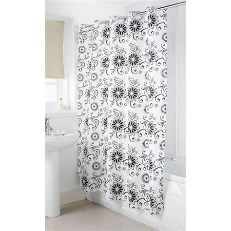 b and m shower curtain b m gt hookless shower curtain silver floral 2952171
