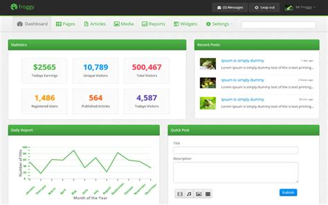 bootstrap themes panel froggy awesome admin panel buy it for 15 00 now