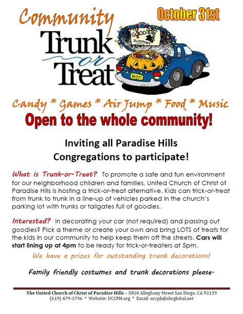 uccph newsletter halloween 2012 trunk or treat event