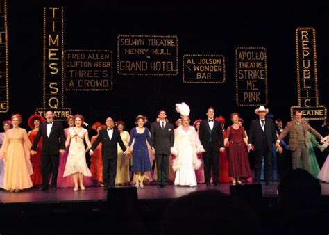 curtain call playhouse photo coverage musical theatre west s 42nd street opening