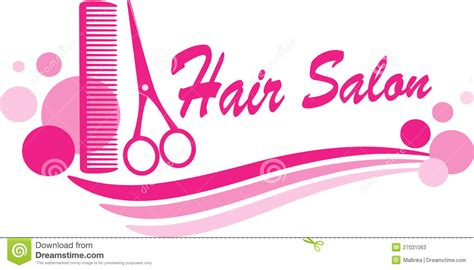 salon tarpaulin layout hair salon sign with scissors and design elements stock