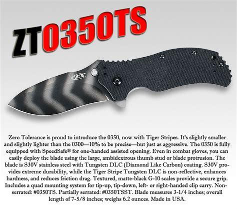 zero tolerance 350 ts zt350ts zero tolerance knife zt0350ts plain edge g10