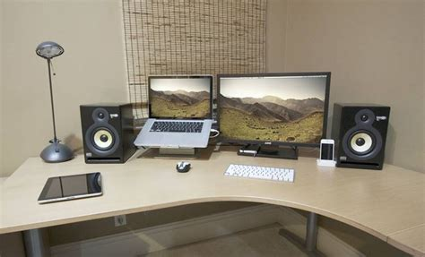 ordinary laptop desk setup laptop monitor setup iknowl