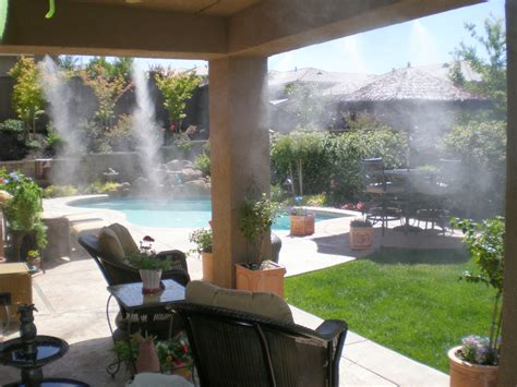 backyard misting system product details original backyard breeze the patented