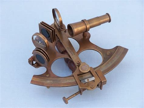sextant vintage buy captain s antique brass sextant 8 inch with rosewood