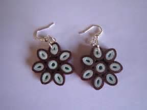 handmade jewelry paper quilling flower earrings mazanda