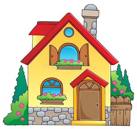 cartoon themes vector house theme image 1 stock vector illustration of cartoon