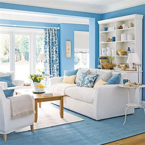 Living Room And Blue Bringing Blue In The Living Room Interior Design Ideas