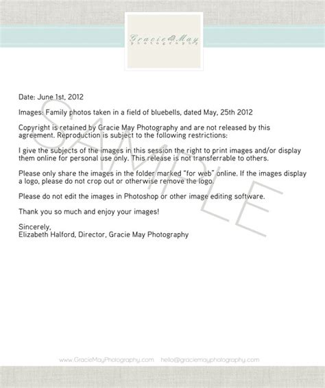 Release Letter For Photography My Image Release Protecting Yourself And Your Photos 187 Elizabeth Halford Photography The