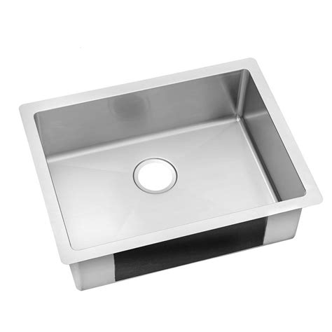 stainless steel single bowl kitchen sinks elkay crosstown undermount stainless steel 24 in single bowl kitchen sink hdu24189f the home