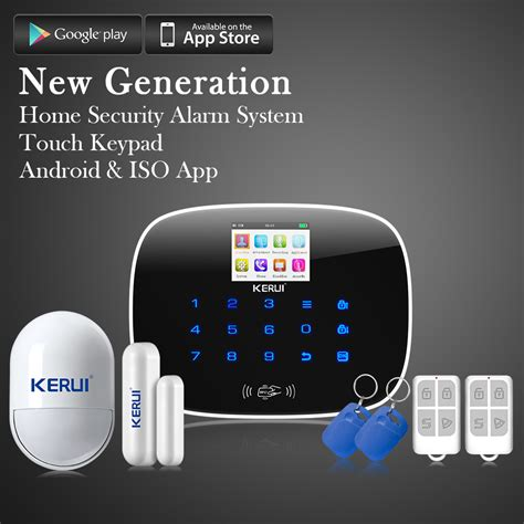 kerui g19 ios android app gsm home alarm system