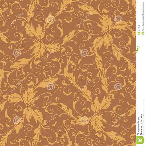 swirl pattern illustrator classic foliage swirl seamless pattern royalty free stock