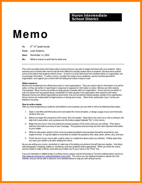 6 exle of memo format resume sections