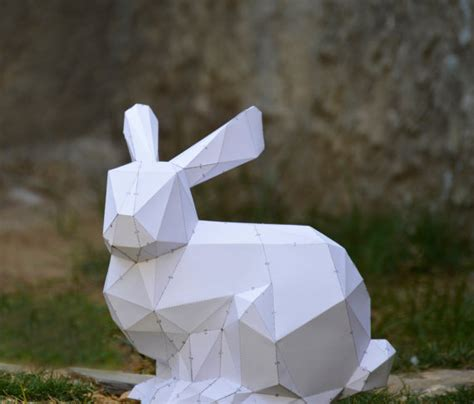 Paper Craft Rabbit - make your own bunny sculpture bunny rabbit animal