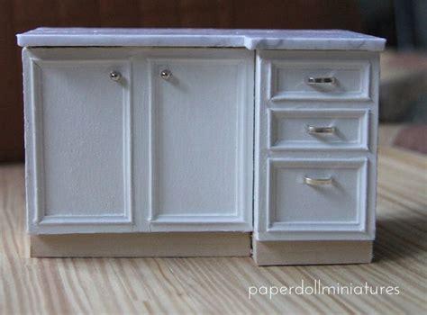 miniature furniture drawer pulls lower cabinets miniature kitchen tutorials